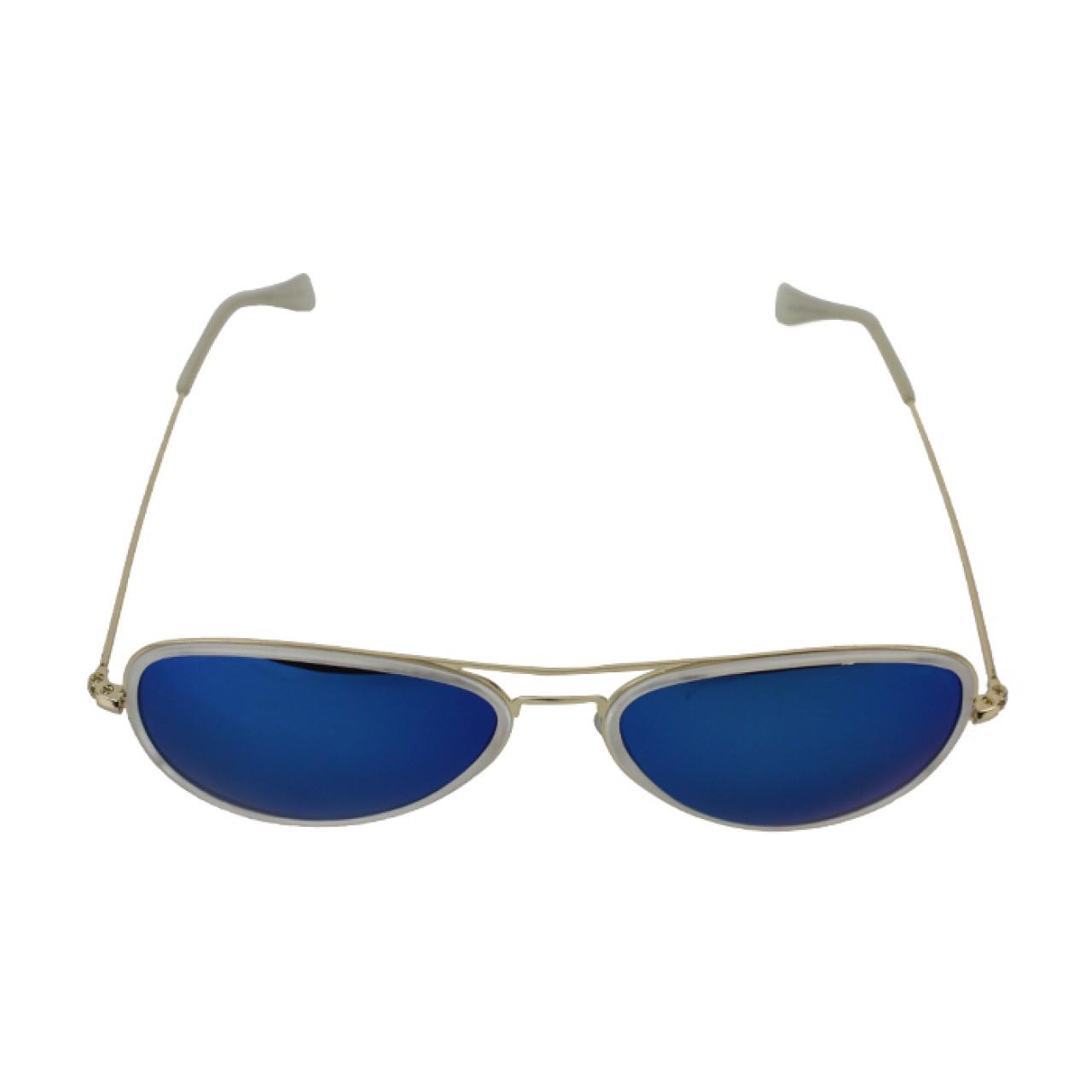 Unisex Polarized Cool blue Full-Rimmed Aviator Sunglasses