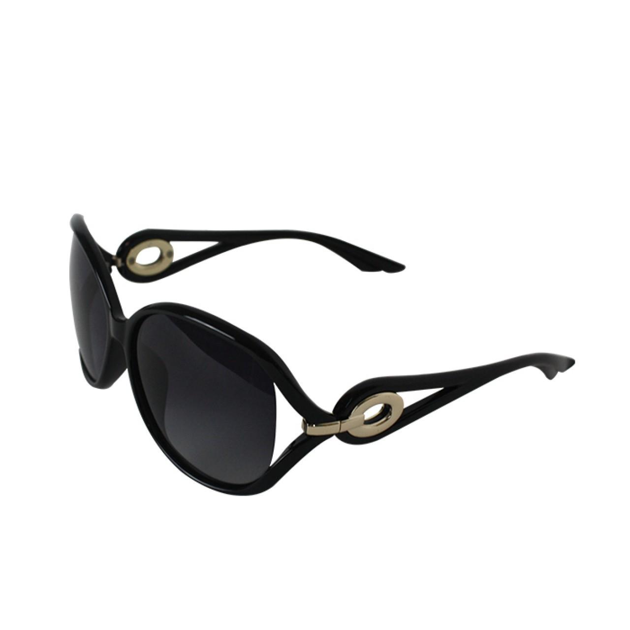 Women's Polarized Black Cat-eye Designer Sunglasses