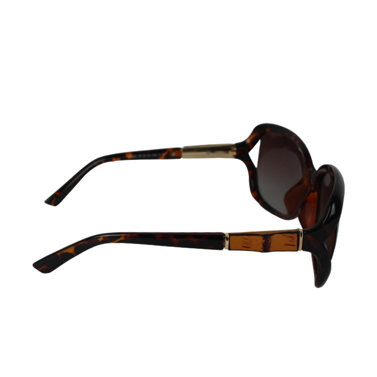 Unisex UV Protected Round Resin Texture Designer Sunglasses