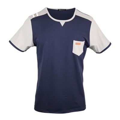 Men's Classic Blue color Crew Neck Tee With Maxi Fit