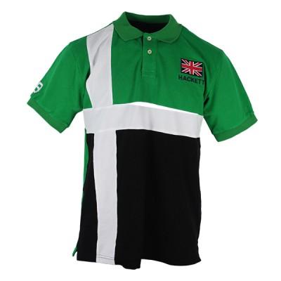 Hackett - Green And White Stripe Polo
