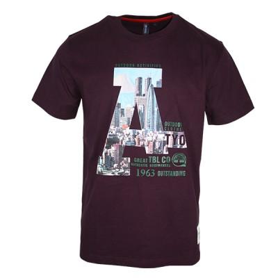 Regular Fit Printed Purple T-Shirt