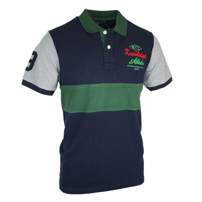 Classic Fit Color Block Polo Shirt