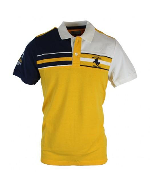 Stylish Slim-Fit Yellow Polo T-Shirt