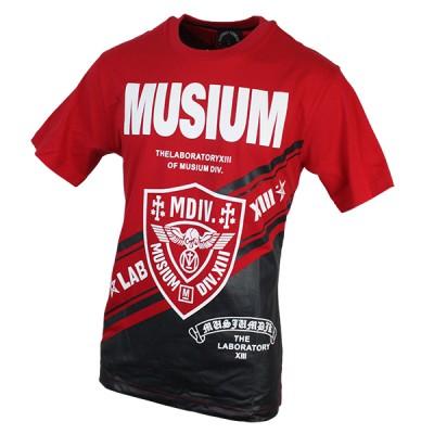 Stylish Red-Black Graphic Printed T-Shirt