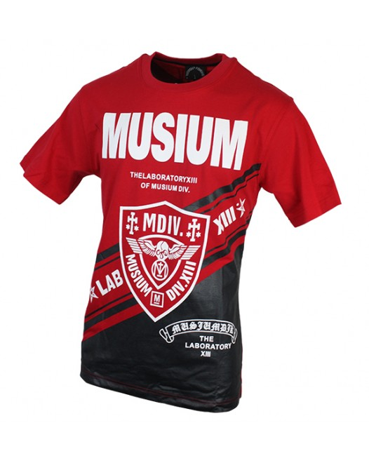 Stylish Red-Black Graphic Printed T-Shirt