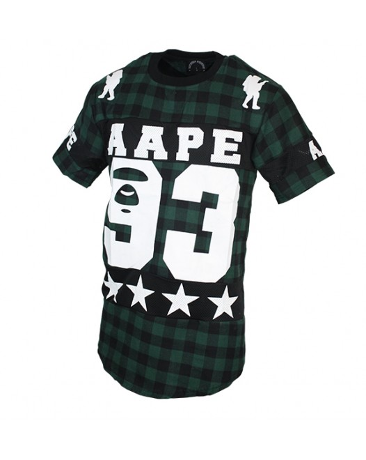 AAPE Men's Army Green T-shirt