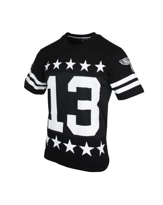 Men's Casual Printed Black Half Sleeve Tees
