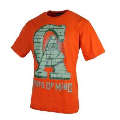 Men's Stylish Design Orange Crew Neck Tees