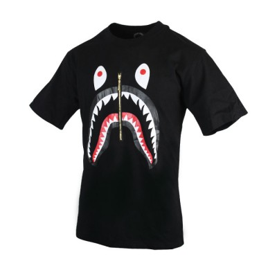 Men's Funny Printed Design Black T-Shirt