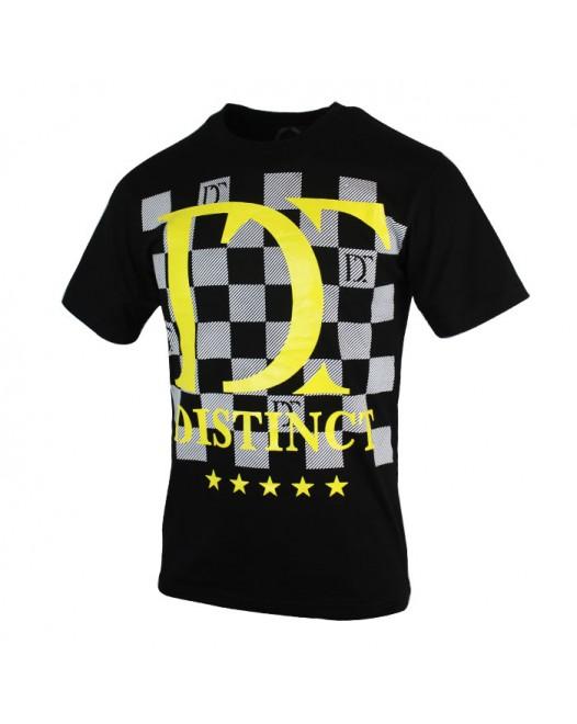 New Checked Casual Printed Men's Crewneck T-shirt