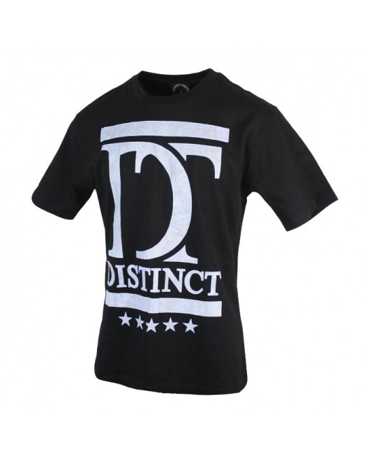 New Dusty Black Checked Casual Printed Men's Crewneck T-shirt