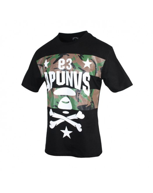 Men's Military design Crew neck T-shirt
