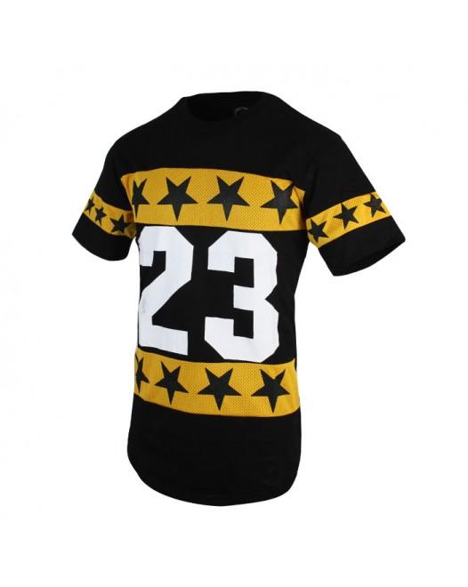 Men's New Printed Black Crew Neck T-Shirt