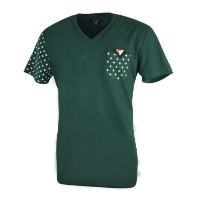 New Arrival Men's Military Green V-Neck T-shirt