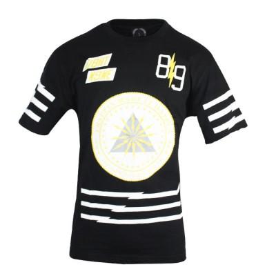 Men's Sport Fit Casual Crew Neck Black T-shirt