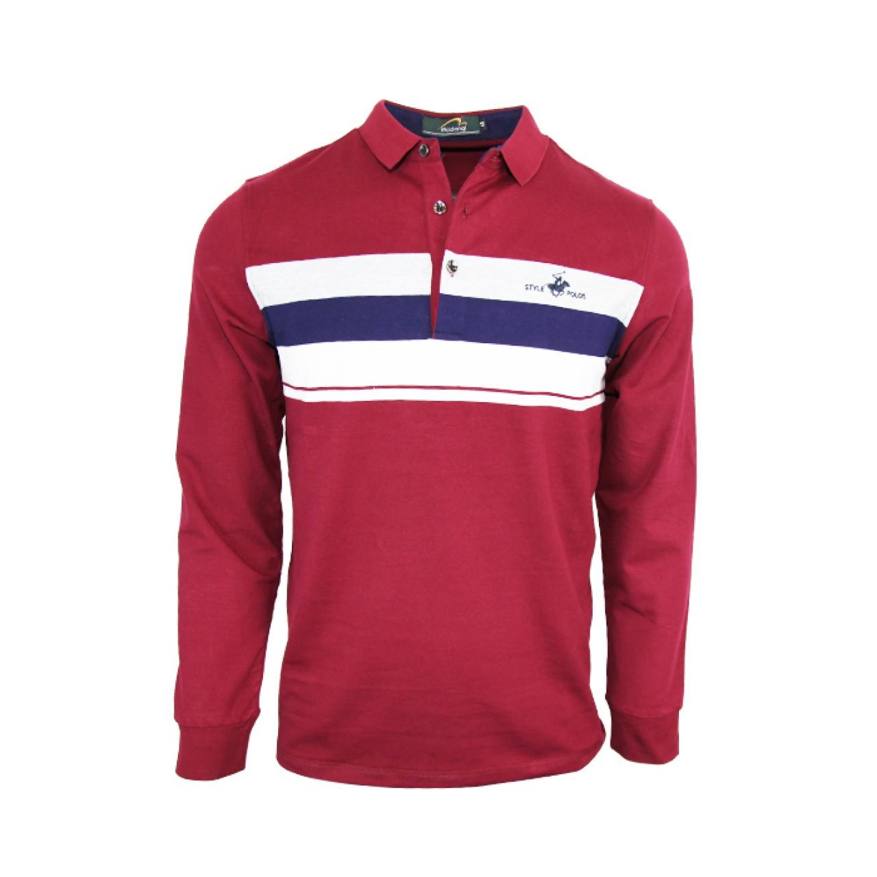 Maroon Full Sleeve Polo Shirt