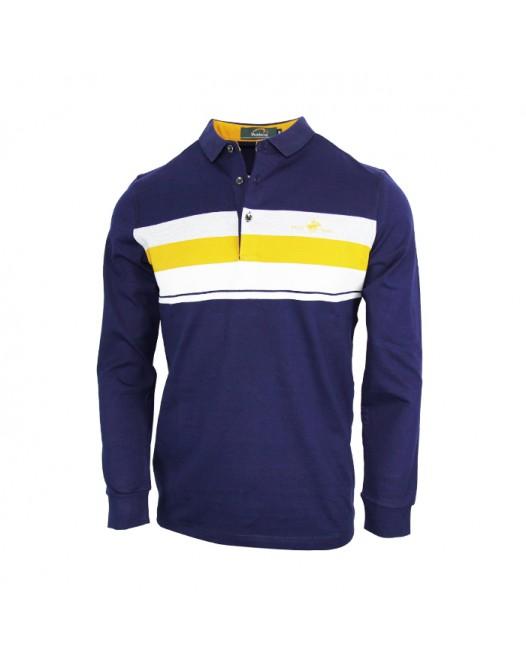 Navy Blue Full Sleeve Polo Shirt