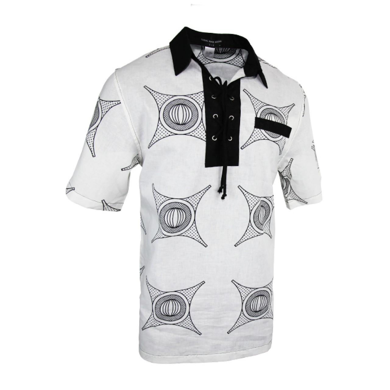 Men's White Funky T-Shirt