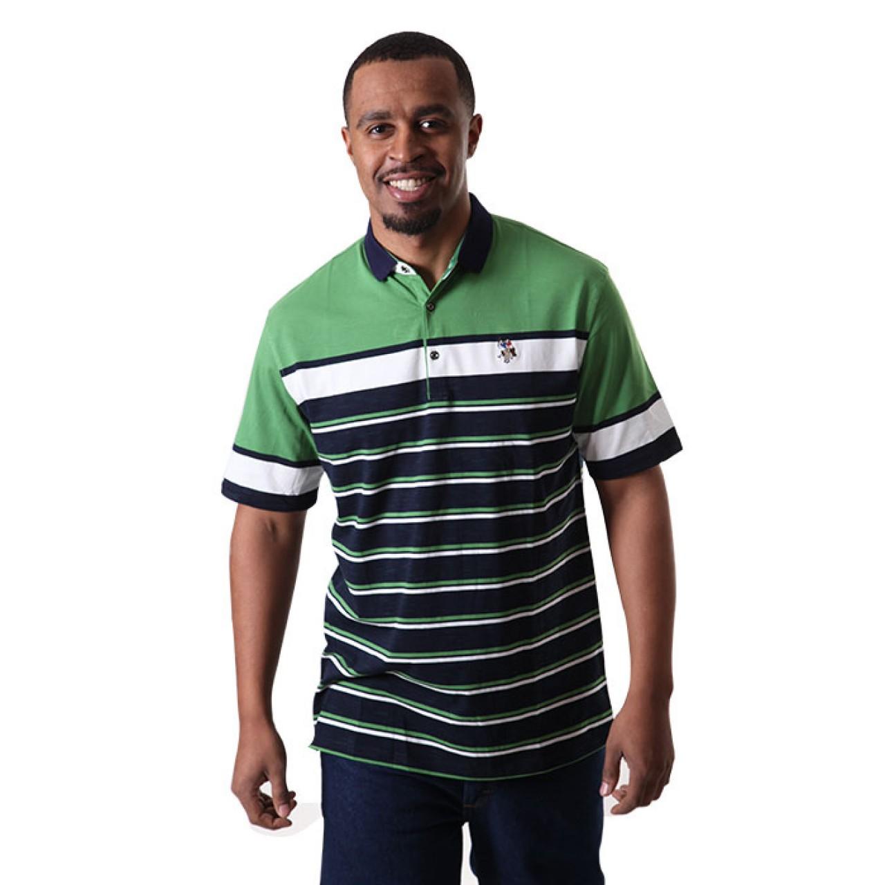 Men's Green US Polo Stripe Tees