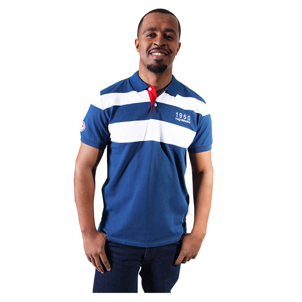 Men's Stylish Fit Blue Collared Tees