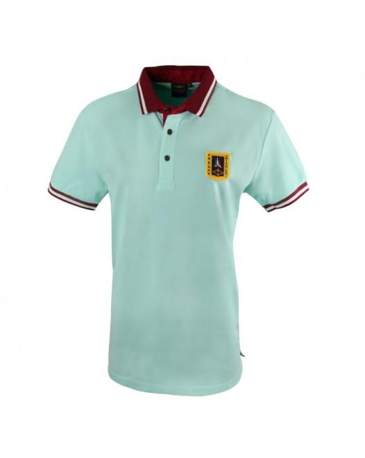 Men's Easy Wear Lite Blue Collared T-shirt