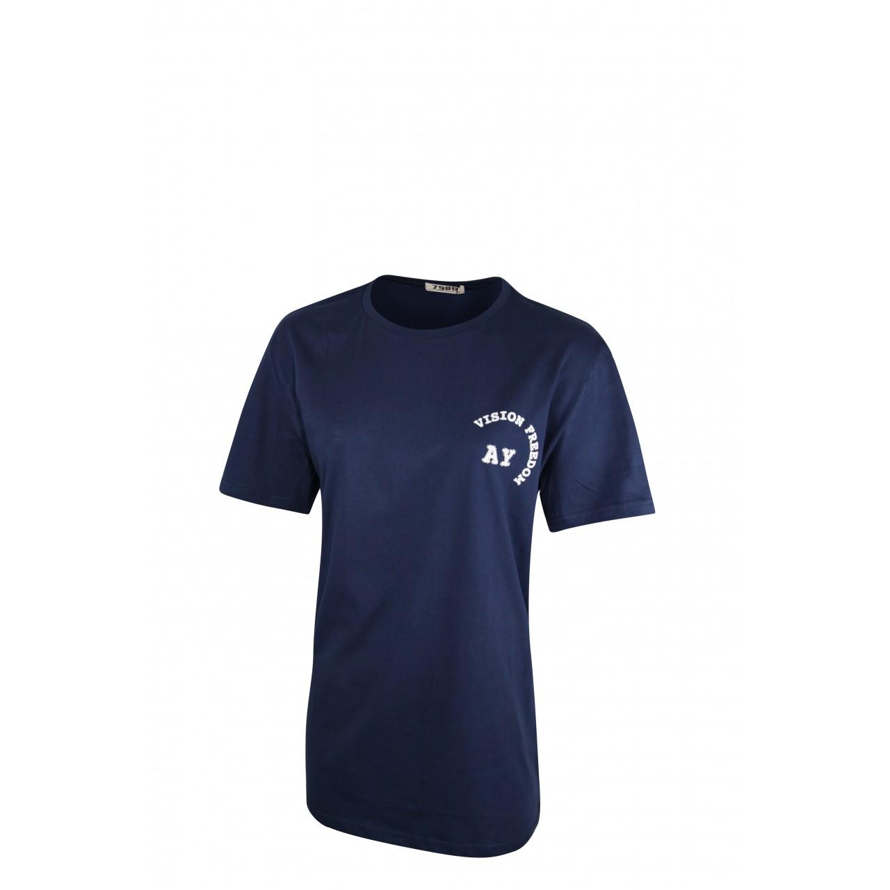 High Vision Men's Navy blue Crew Neck T-Shirt