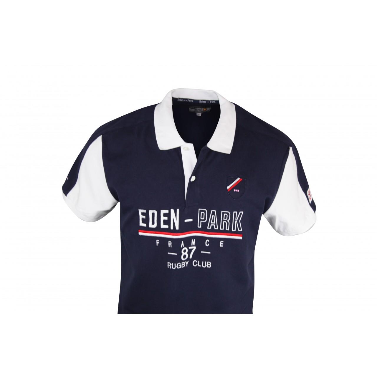 EDEN - PARK Navy Blue Men's Collared Shirt