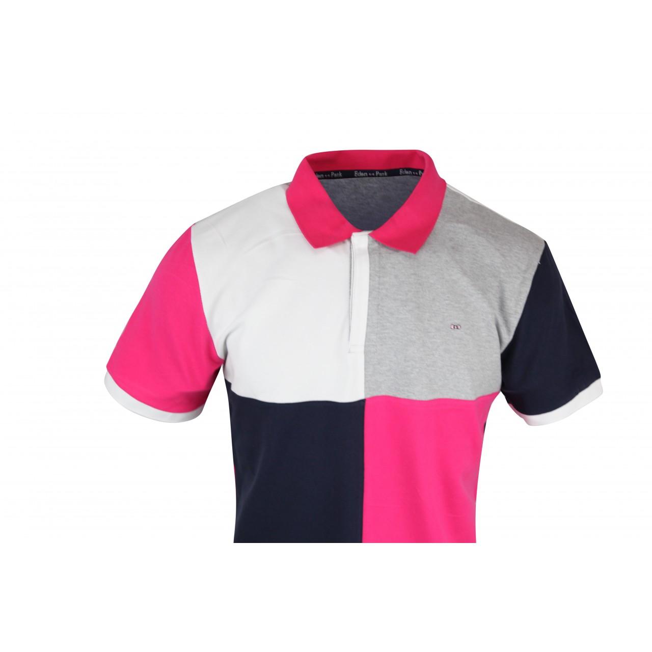 Men's Square Cut Design Colored Collar