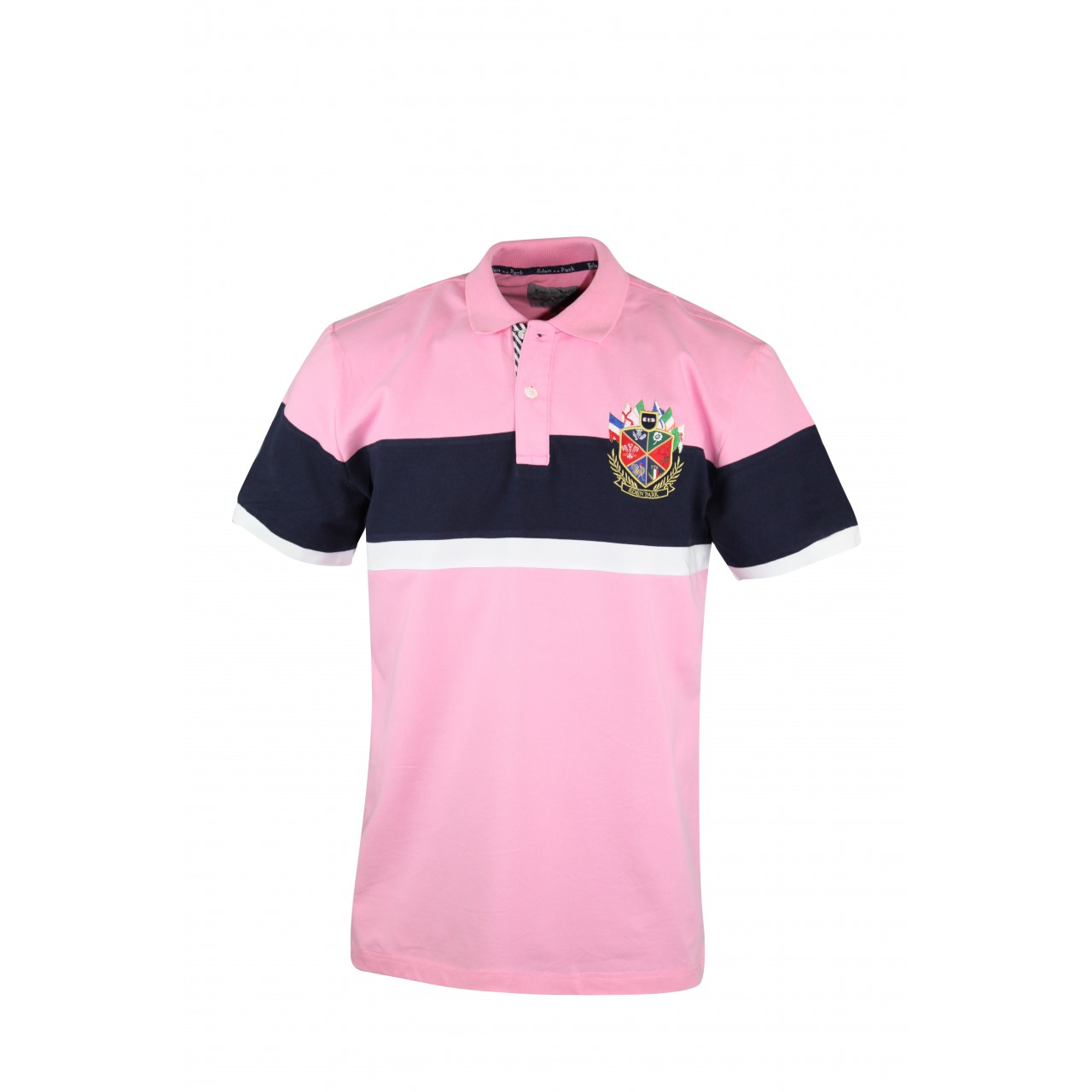 Men's Double-Color Lite Rose Collared Tees