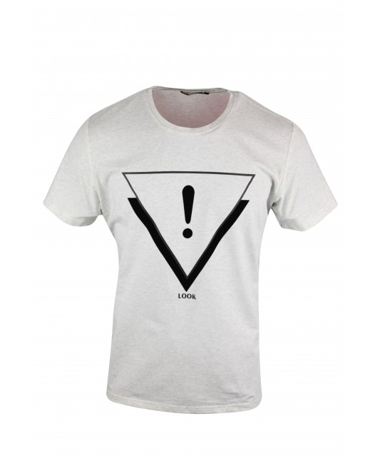 Men's Softy Crew Neck Ash Color T-shirt