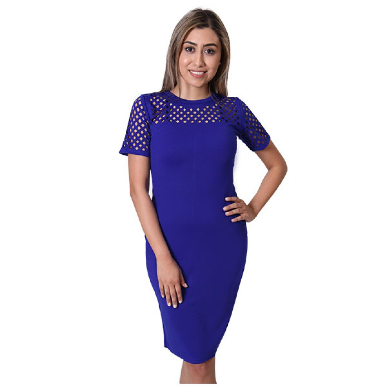 Womens Floral embroidery Designed Pencil Dress