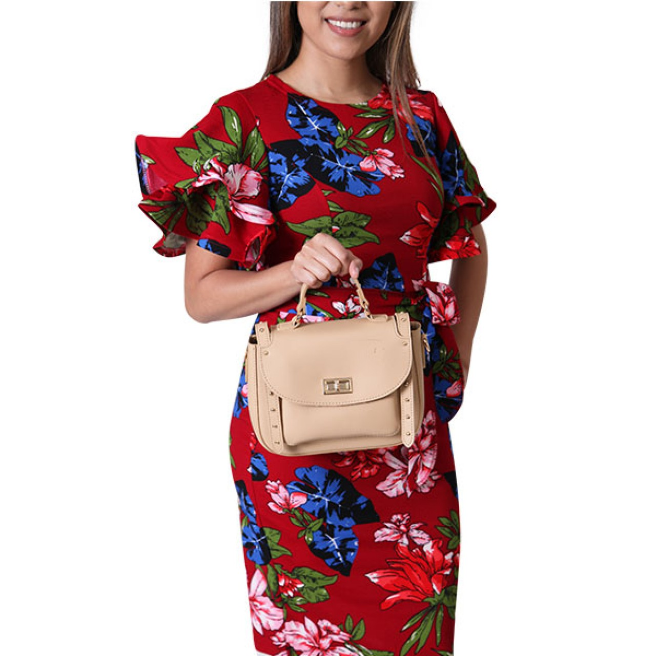 Women Day Dress Floral Wrap Dress