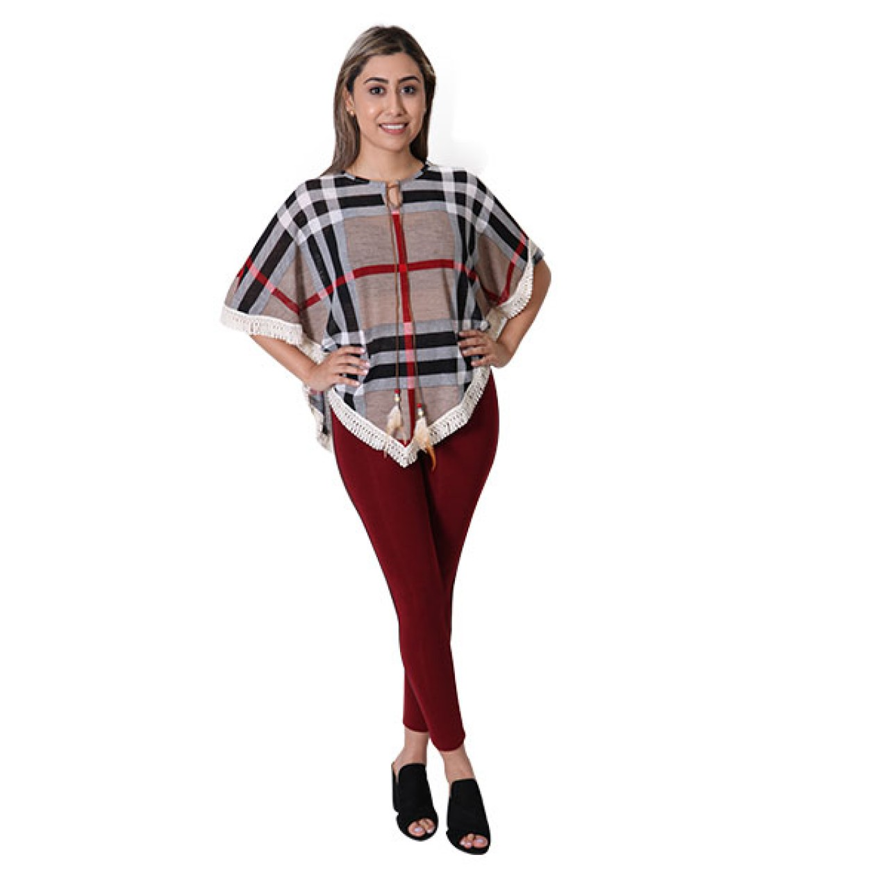 Women Royal Navy Blue Striped Slim Fit Crossfit Dress With Pant