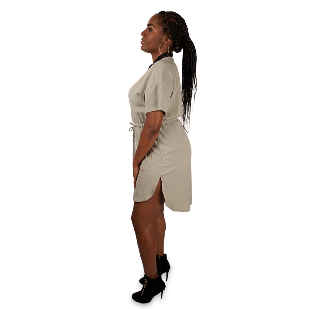 Women Sleeve Wrap Dress with designer cut at edges