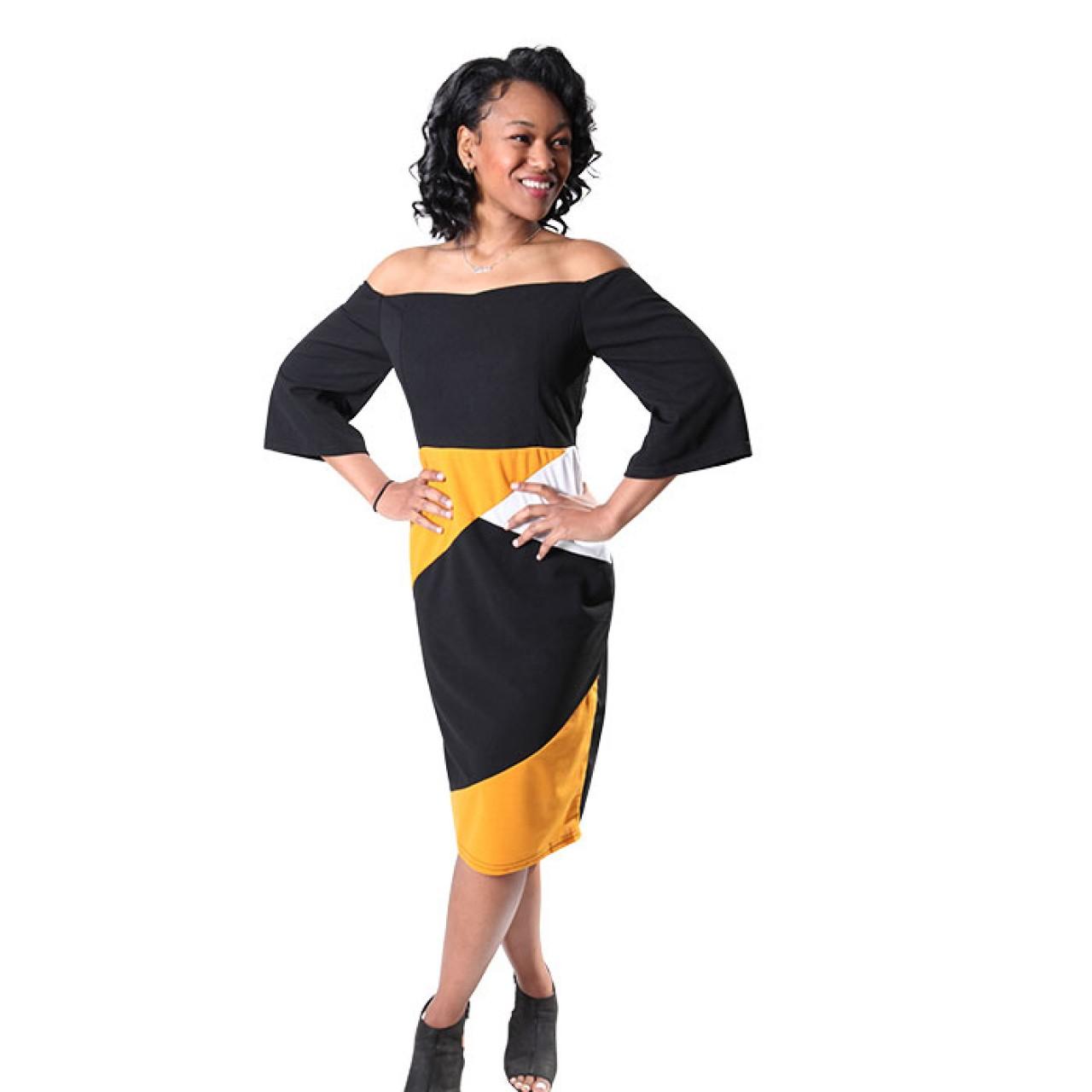 Classy Women Off The Shoulder Floral Midi Dress