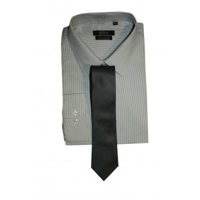 Men's Formal Basic VOGUE LIFE Light Striped Ash Shirt Set
