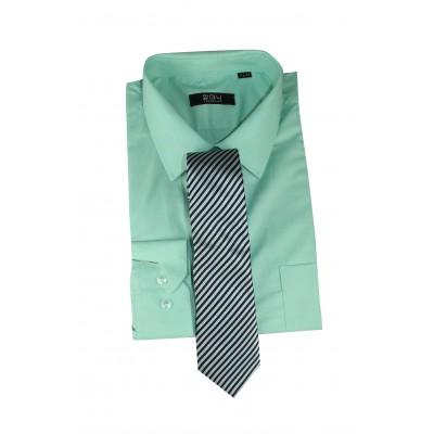 Men's Formal basic VOGUE LIFE Pista green shirt-Set