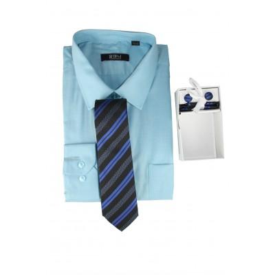 Mens Formal basic VOGUE LIFE Sky Blue shirt Set