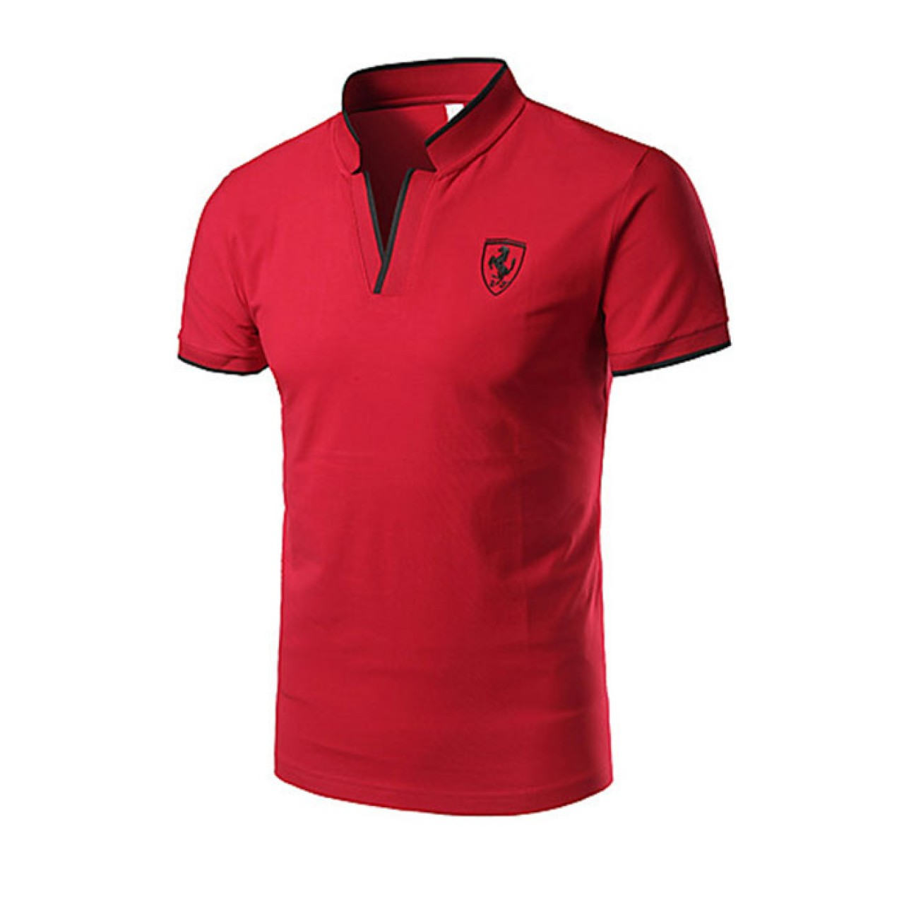 Men's New Short Collared Red Tees
