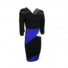 Black Women's off shoulder plaid dress skirt