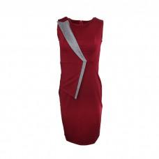 Women's Ponte sleeveless dress Marron