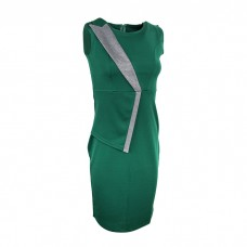 Green Women's Ponte sleeveless dress