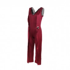Vintage Red Jumpsuit for women's