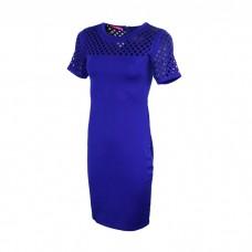 Women's Net sleeves dress in blue