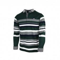 Green Multi stripped full sleeves Tshirts for Men's