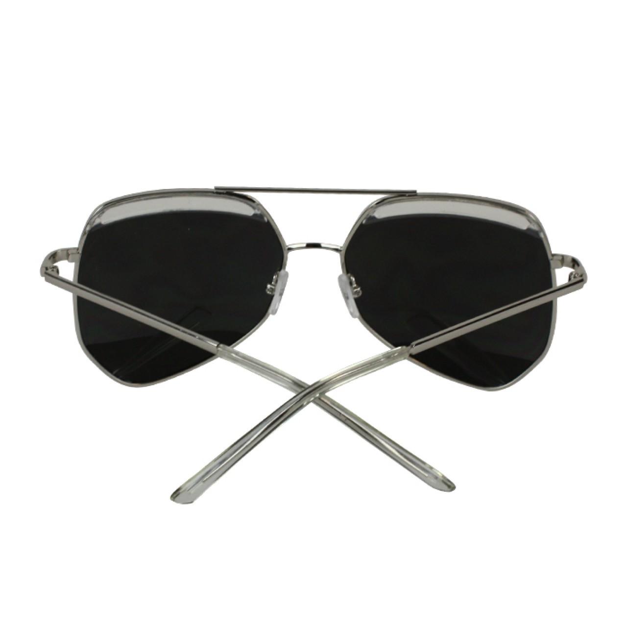Men's Polarized Gray Full-Rimmed Sunglasses