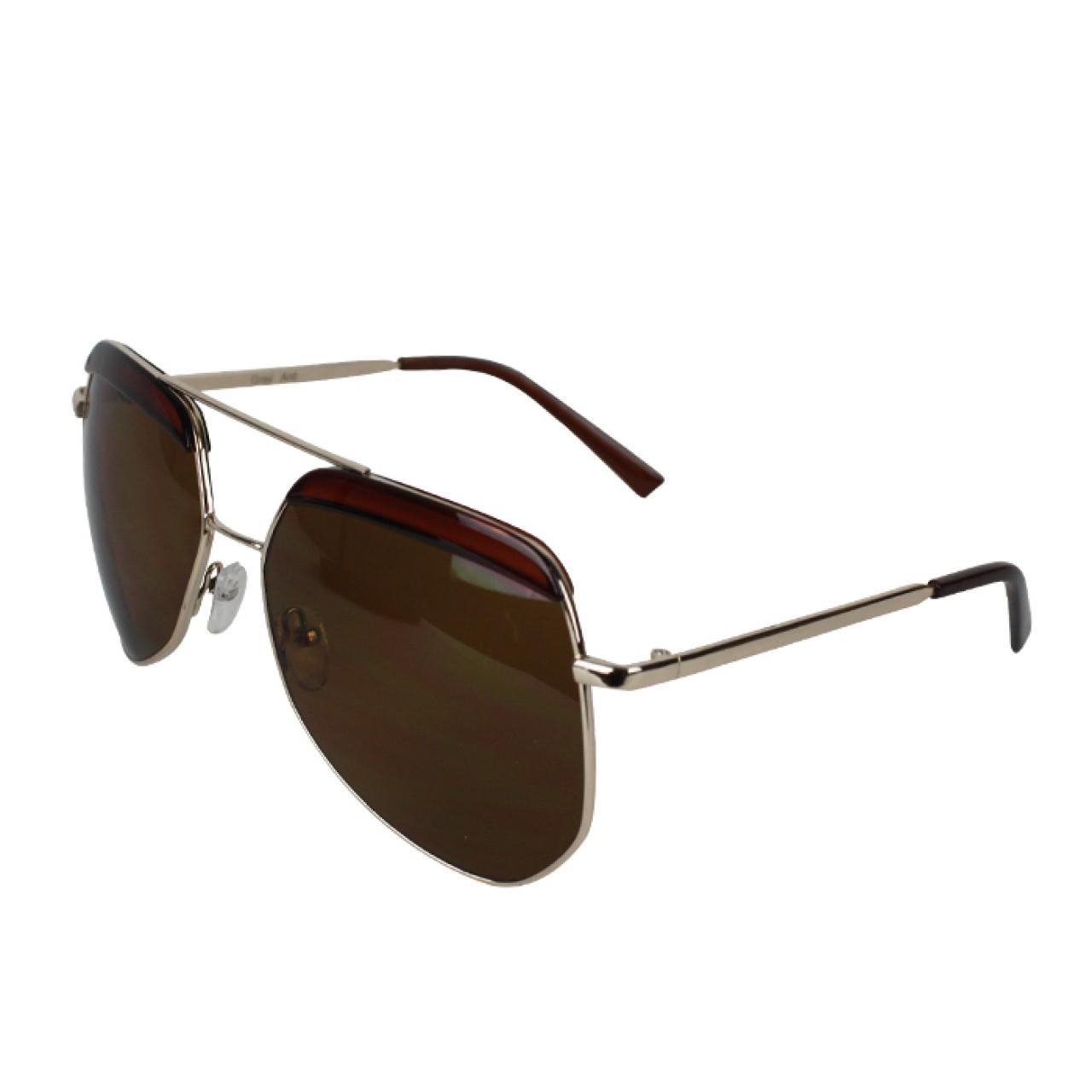 Men's UV Protected Aviator Redwood texture Sunglasses