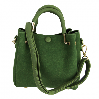 Casual Green Tote Pair of 2 Pieces Bag Set