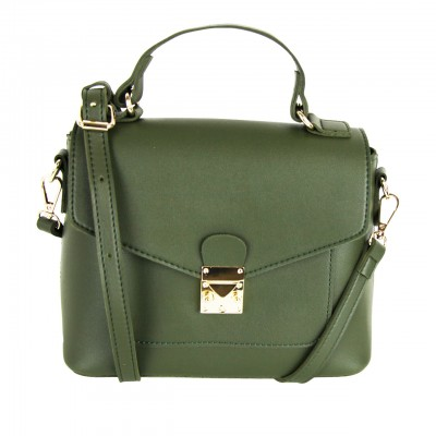 Modern Leather Straps Brown/Golden/Smog Brown Rose/Green Satchel Shoulder Bag